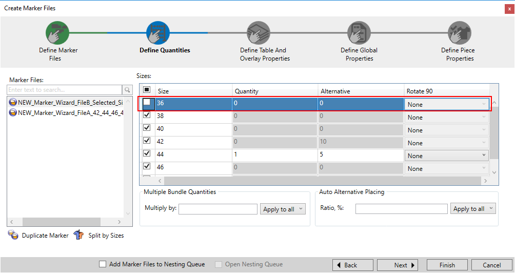 Optitex 19 How To Use Marker Creation Wizard 26